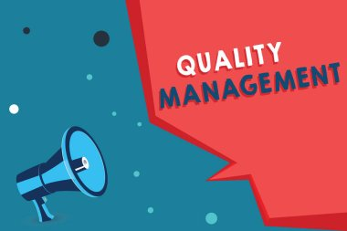 Word writing text Quality Management. Business concept for Maintain Excellence Level High Standard Product Services