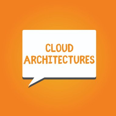 Word writing text Cloud Architectures. Business concept for Various Engineered Databases Softwares Applications
