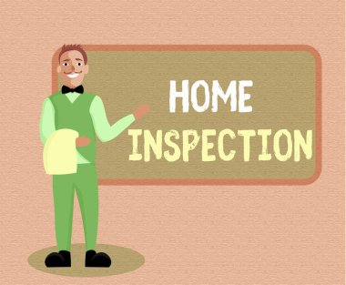 Writing note showing Home Inspection. Business photo showcasing Examination of the condition of a home related property