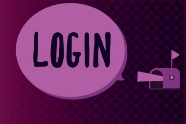 Conceptual hand writing showing Login. Business photo showcasing Entering website Blog using username and password Registration