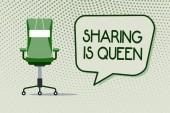 Konceptuální ručně psaného textu zobrazeno sdílení je královna. Obchodní fotografie představí ostatním údaji nebo patří je výborná kvalita