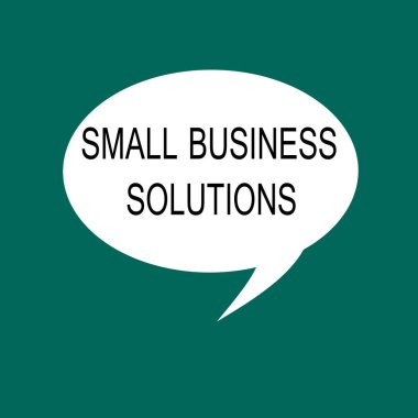 Conceptual hand writing showing Small Business Solutions. Business photo showcasing a Company to solve Specific Trade problems