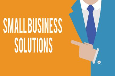 Word writing text Small Business Solutions. Business concept for a Company to solve Specific Trade problems