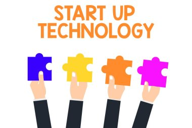 Handwriting text Start Up Technology. Concept meaning Young Technical Company initially Funded or Financed