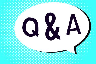 Word writing text Q and A. Business concept for person or group people asks questions and another ones answer them