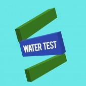 Megjegyzés: a víz teszt üzleti fénykép bemutatják a különféle folyékony patakok mintavétele és elemzése a minőségi mutató írás