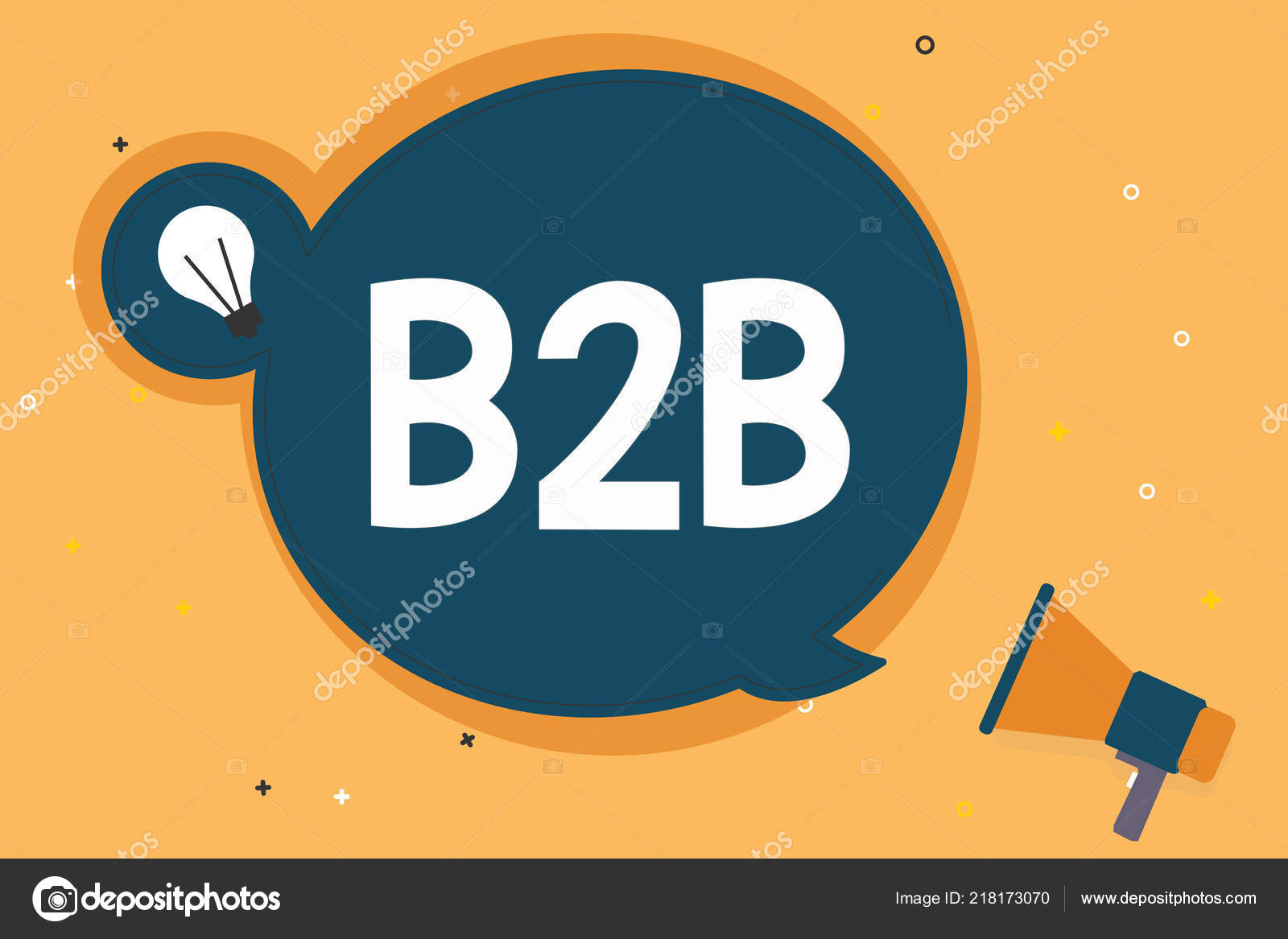 Handwriting text B2B  Concept meaning Exchange of products
