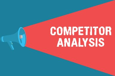 Writing note showing Competitor Analysis. Business photo showcasing Determine the Strength Weakness of Competitive Market.
