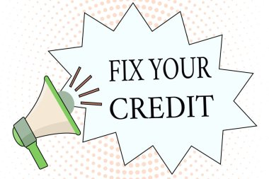 Word writing text Fix Your Credit. Business concept for Keep balances low on credit cards and other credit