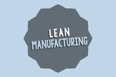 Handwriting text Lean Manufacturing. Concept meaning Waste Minimization without sacrificing productivity