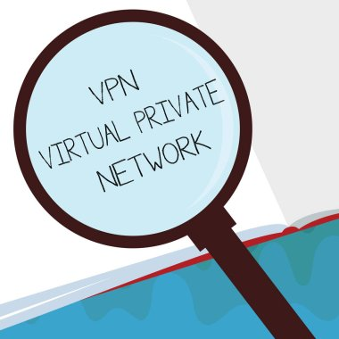 Handwriting text Vpn Virtual Private Network. Concept meaning Safe Encrypted connection over the Internet
