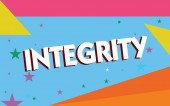 Fotografie Text sign showing Integrity. Conceptual photo quality of being honest and having strong moral principles