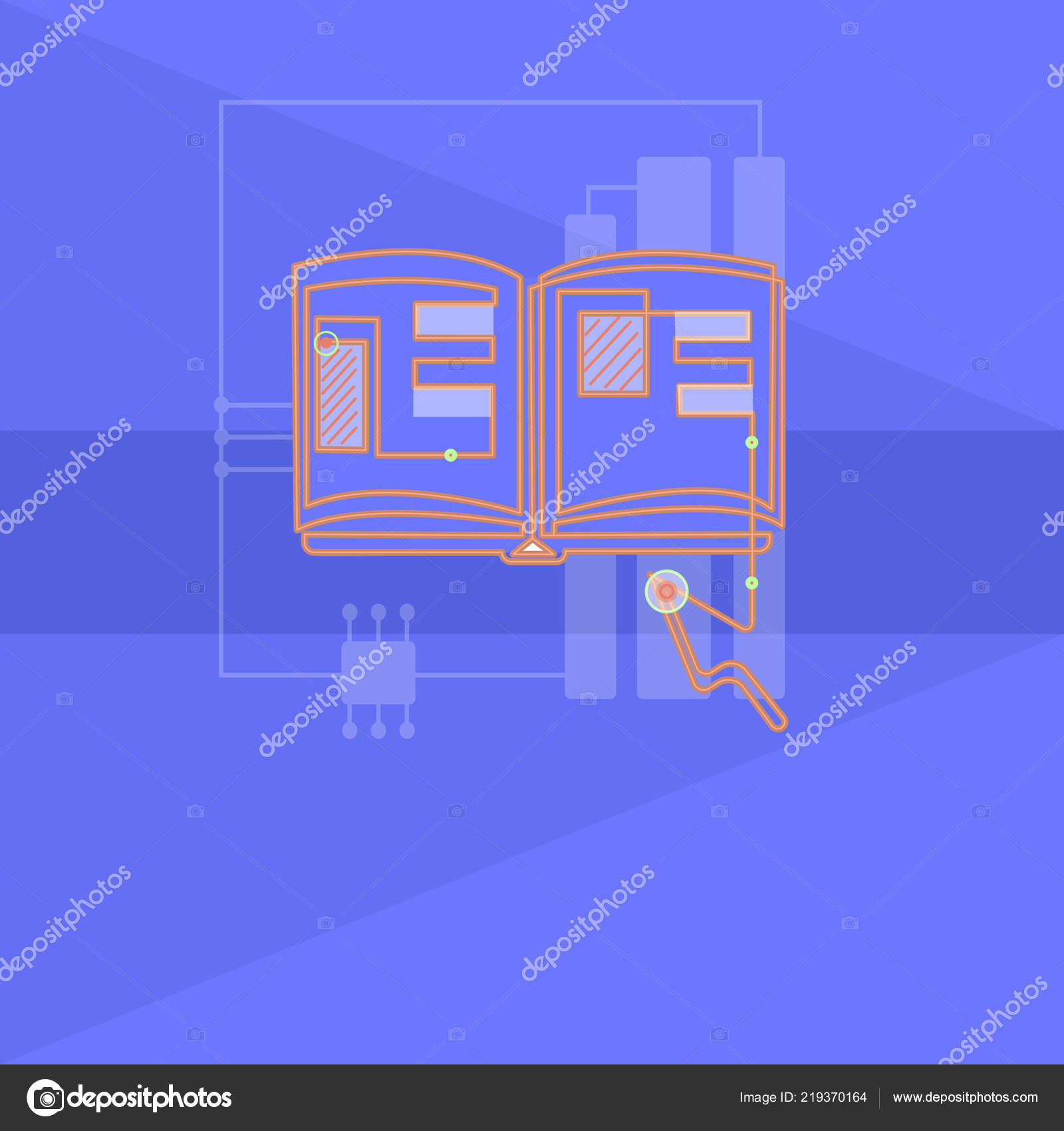 flat design business vector illustration concept empty copy text for