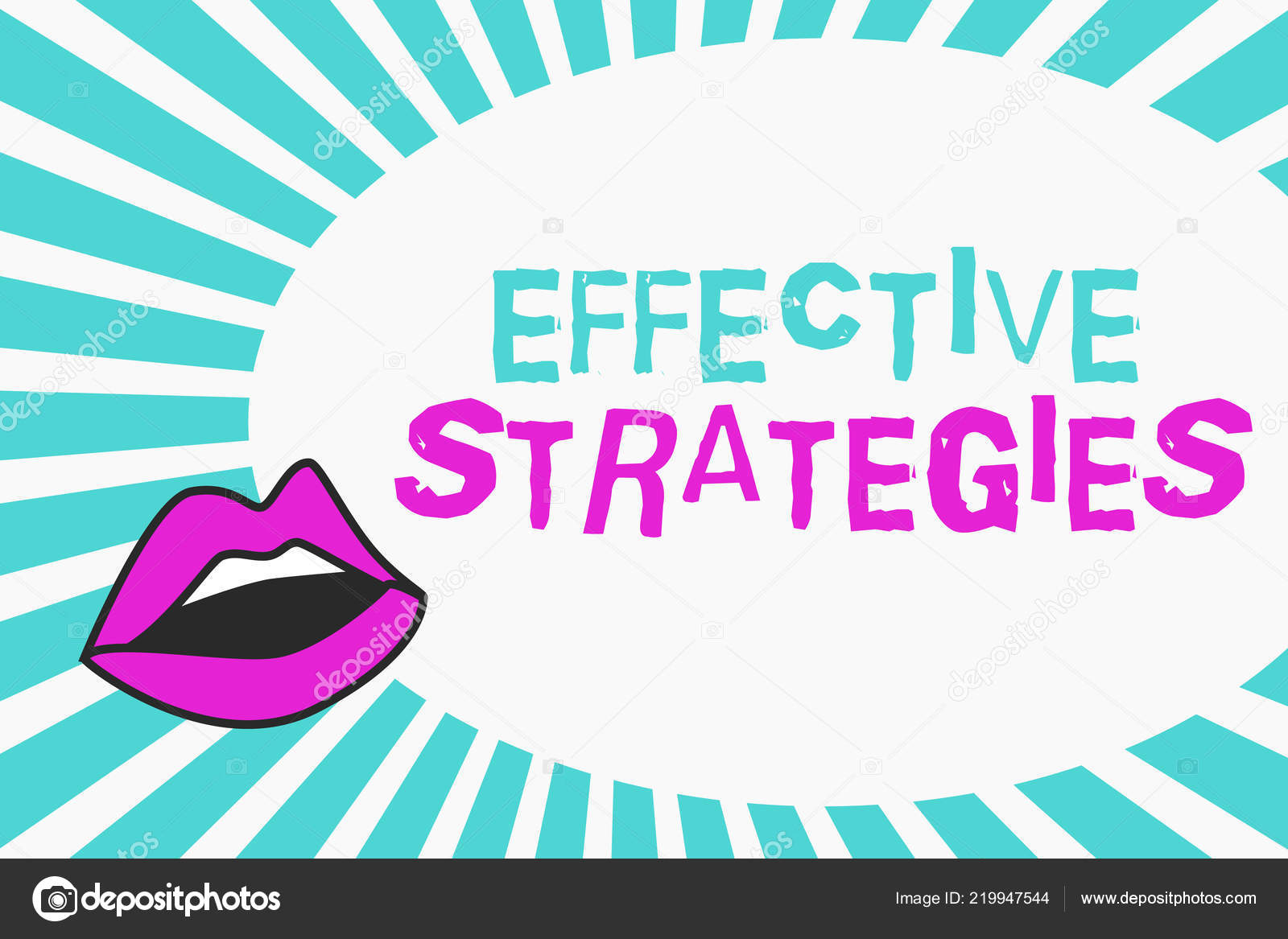 Writing note showing Effective Strategies  Business photo