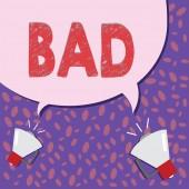 Fotografia Nota di scrittura risultati male. Foto di affari proponendo cose spiacevoli che si verificano a mostrare gli effetti che sono moralmente sbagliati