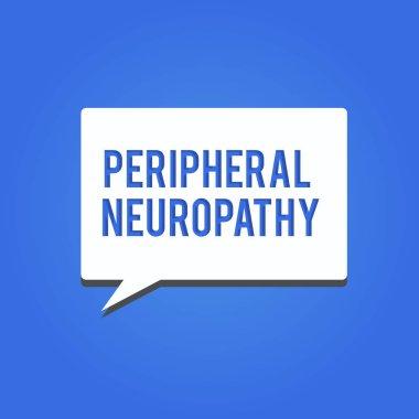 """Картина, постер, плакат, фотообои """"написание текста периферическая нейропатия. бизнес-концепция состояния, в котором повреждена периферическая нервная система """", артикул 220642596"""