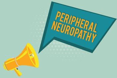 """Картина, постер, плакат, фотообои """"текстовый знак, показывающий периферическую невропатию. концептуальное фото состояние, в котором повреждена периферическая нервная система """", артикул 220644864"""