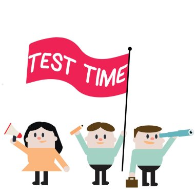 Word writing text Test Time. Business concept for Moment to take an examination Grade knowledge lesson learned