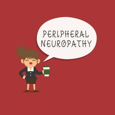 """Картина, постер, плакат, фотообои """"написание текста периферическая нейропатия. бизнес-концепция состояния, в котором повреждена периферическая нервная система """", артикул 220889728"""