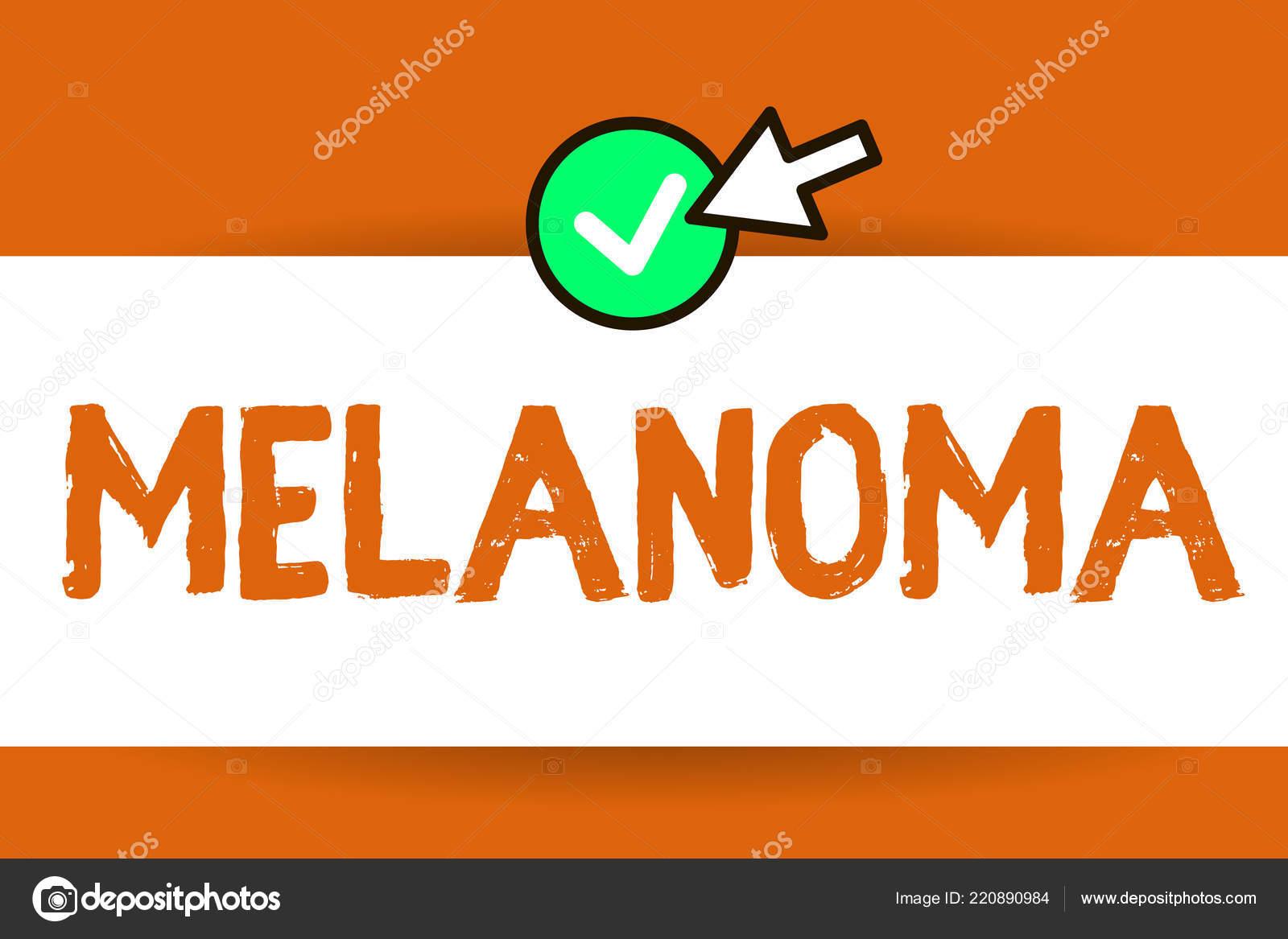 Conceptual hand writing showing Melanoma  Business photo