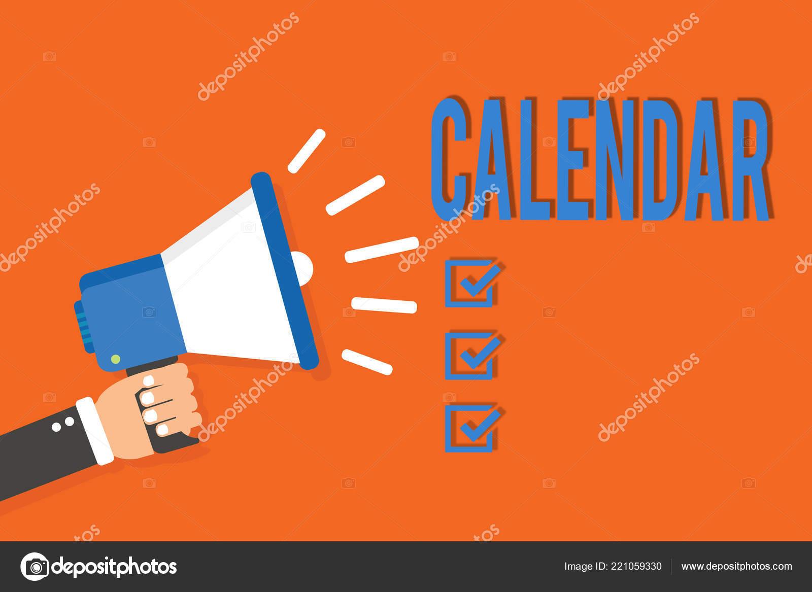 Calendario Particolare.Testo Di Scrittura Word Calendario Concetto Di Business Per
