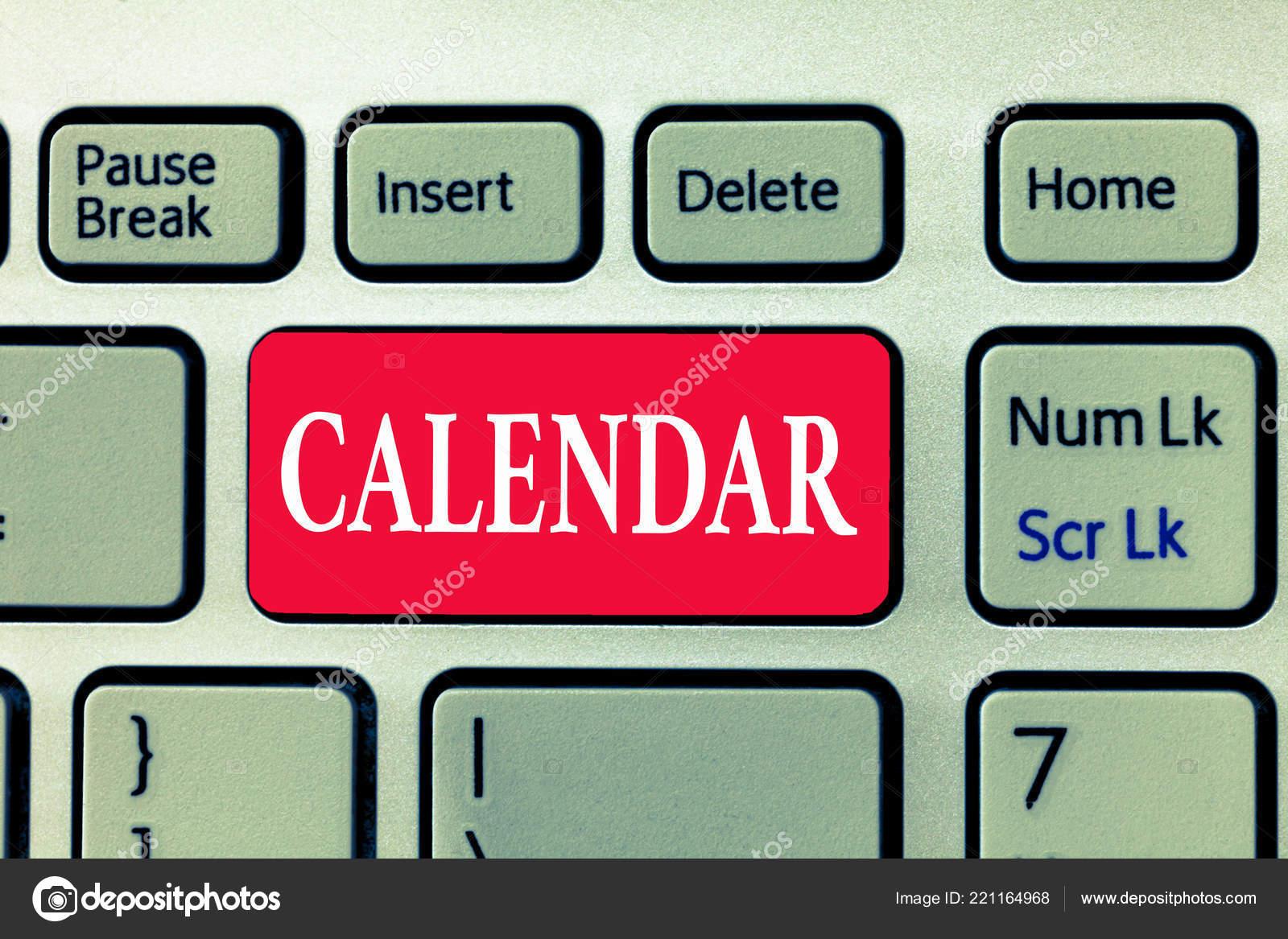 Calendario Particolare.Nota Di Scrittura Risultati Calendario Foto Di Affari