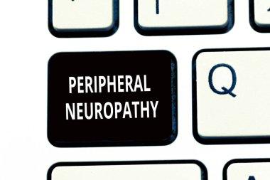 """Картина, постер, плакат, фотообои """"концептуальный почерк, показывающий периферическую невропатию. состояние периферической нервной системы """", артикул 221164698"""