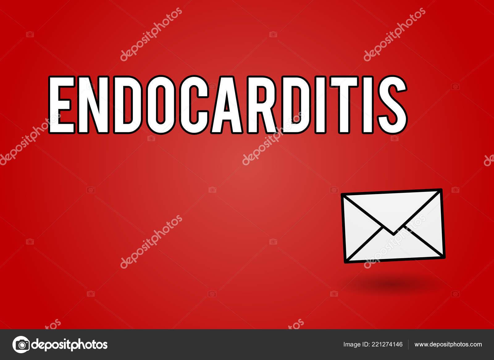 Texte d'écriture endocardite. Concept qui signifie infection grave ...