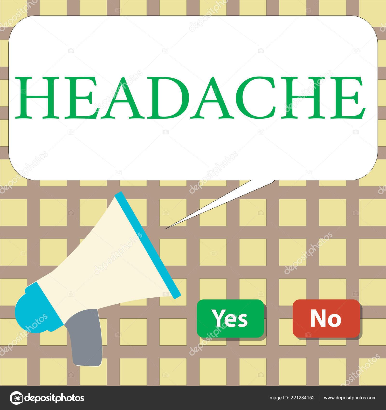 Writing note showing Headache  Business photo showcasing