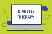 Konceptuální ručně psaného textu zobrazeno terapie diabetu. Obchodní fotografie představí Set pacientů je glykémii co nejblíže k normální