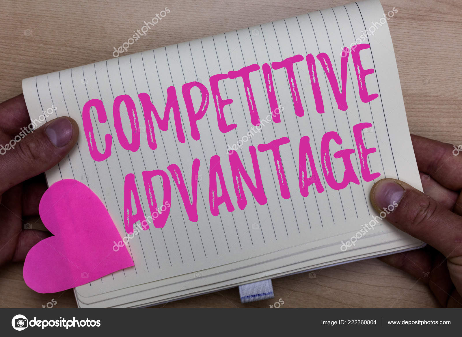 ec1b892d74 Writing note showing Competitive Advantage. Business photo showcasing  Company Edge over another Favorable Business Position