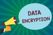 Word writing text Data Encryption. Business concept for Symmetric key algorithm for the encrypting electronic data