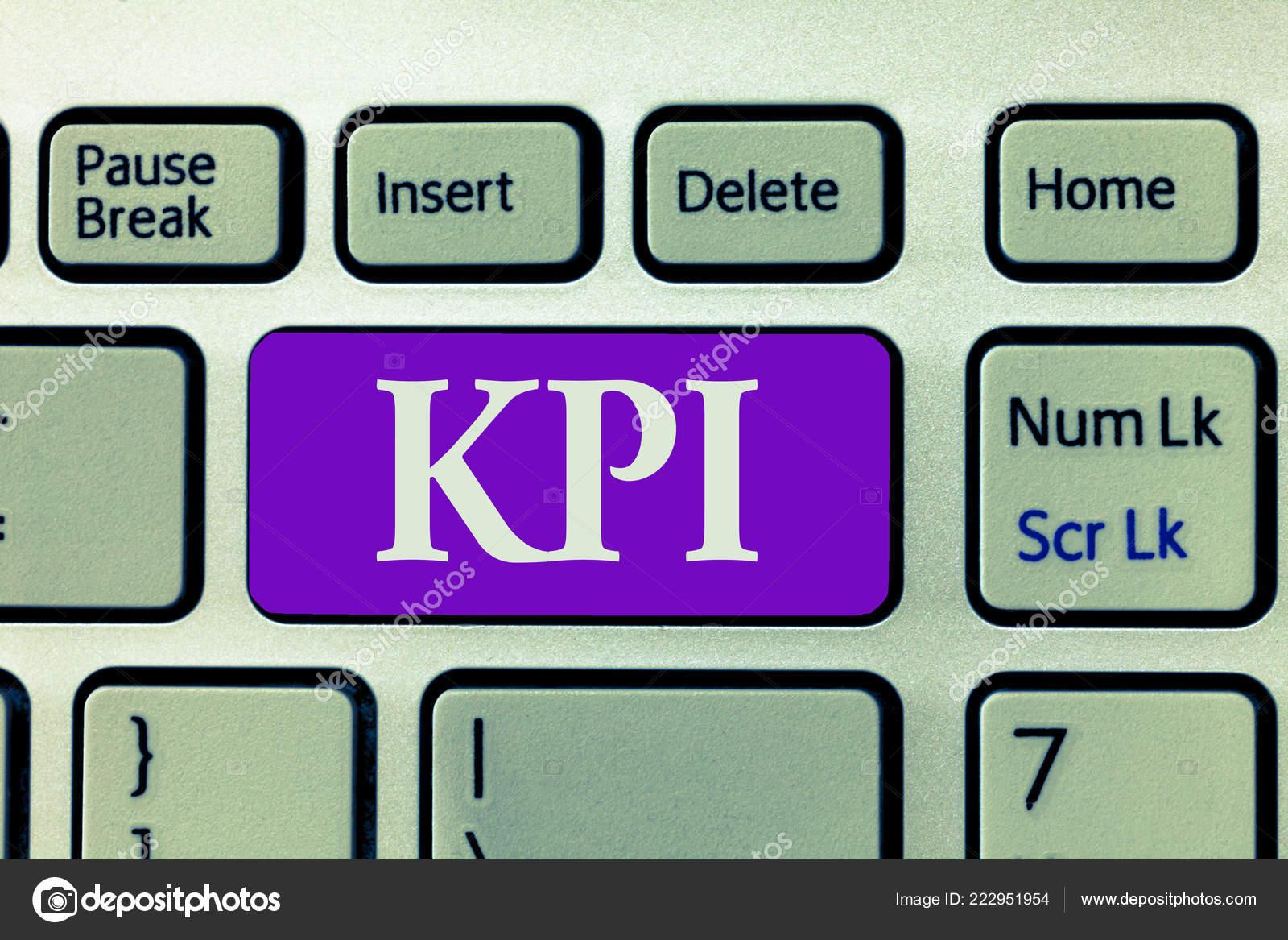 107b4633a Palavra escrita texto Kpi. Conceito de negócios para avaliar o sucesso de  uma organização em