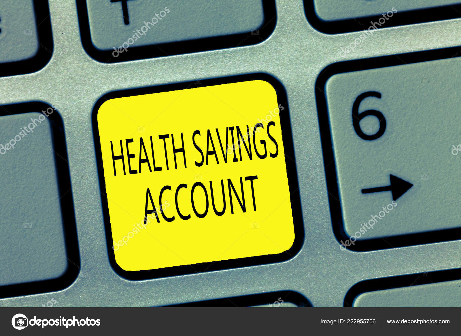 handwriting text writing health savings account concept meaning users with high deductible health insurance policy