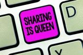 Zápis poznámky zobrazuje sdílení je královna. Obchodní fotografie představí ostatním údaji nebo patří je výborná kvalita
