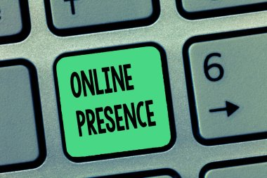 Word writing text Online Presence. Business concept for existence of someone that can be found via an online search