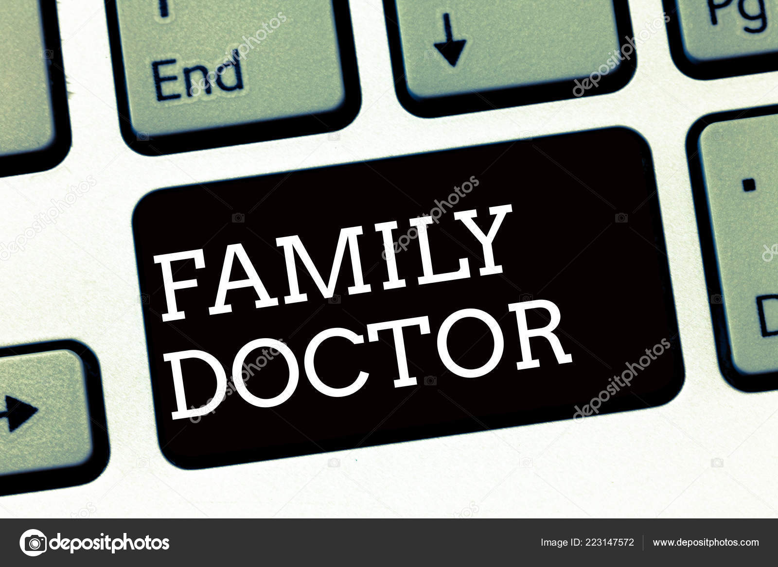 Handwriting Text Writing Family Doctor Concept Meaning Provide Comprehensive Health Care For Showing Of All Ages Stock Photo C Artursz 223147572