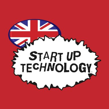 Writing note showing Start Up Technology. Business photo showcasing Young Technical Company initially Funded or Financed.