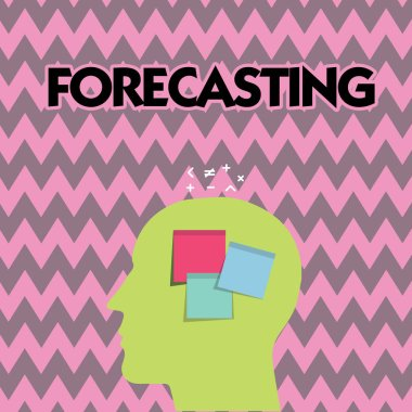 Text sign showing Forecasting. Conceptual photo Predict Estimate a future event or trend based on present data