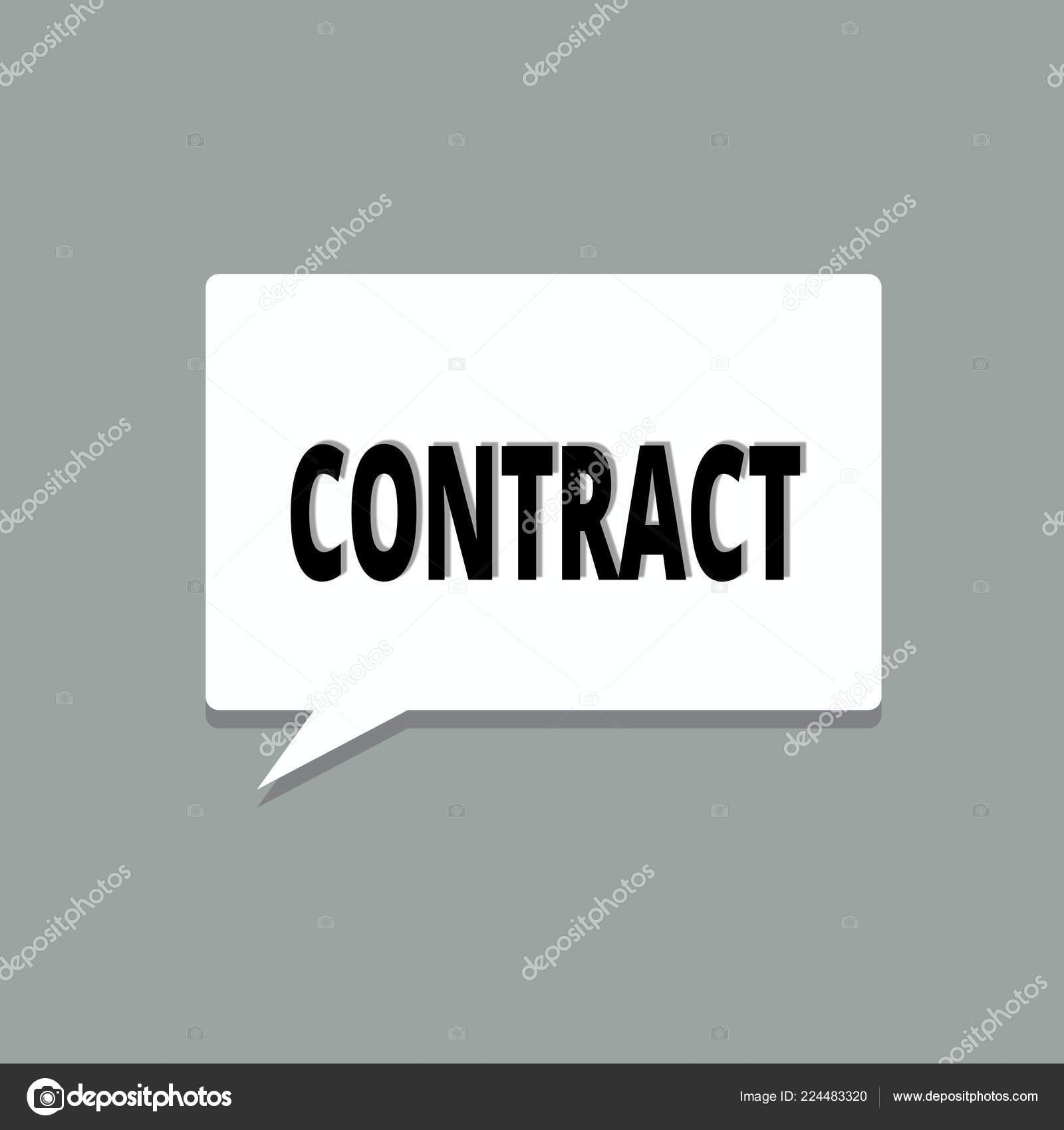 Text Der Handschrift Vertrag Was Bedeutet Geschriebene Oder