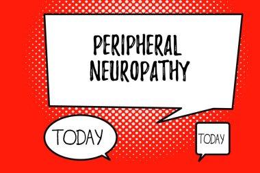 """Картина, постер, плакат, фотообои """"написание текста периферическая нейропатия. бизнес-концепция состояния, в котором повреждена периферическая нервная система """", артикул 224707344"""