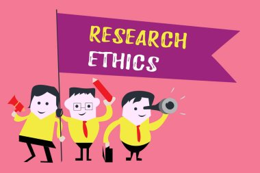Writing note showing  Research Ethics. Business photo showcasing interested in the analysis of ethical issues that raised