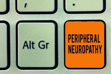 """Картина, постер, плакат, фотообои """"периферическая невропатия. концепция означает состояние, при котором повреждена периферическая нервная система """", артикул 229329466"""