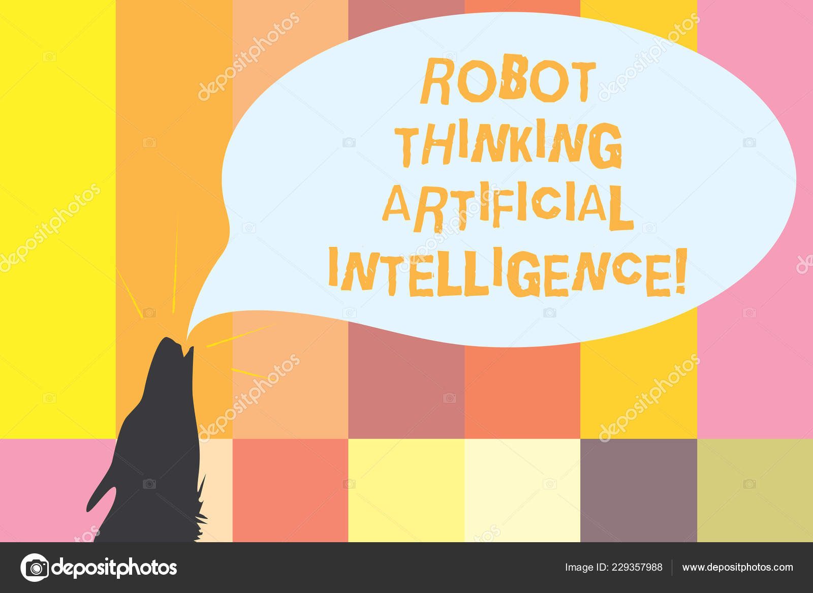 Word writing text Robot Thinking Artificial Intelligence  Business