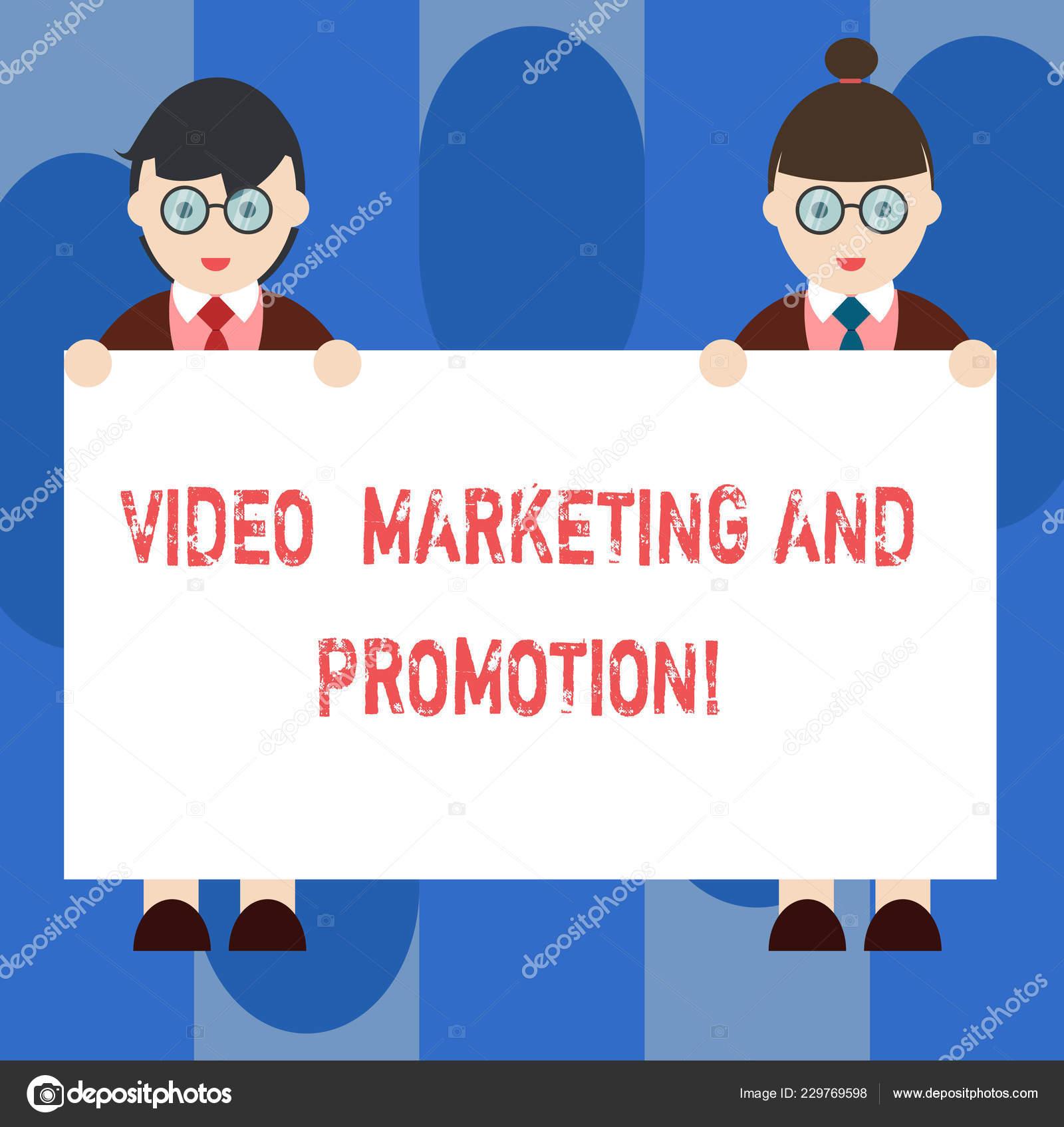 Texto Cursivo Video Marketing Y Promoción Concepto Significado