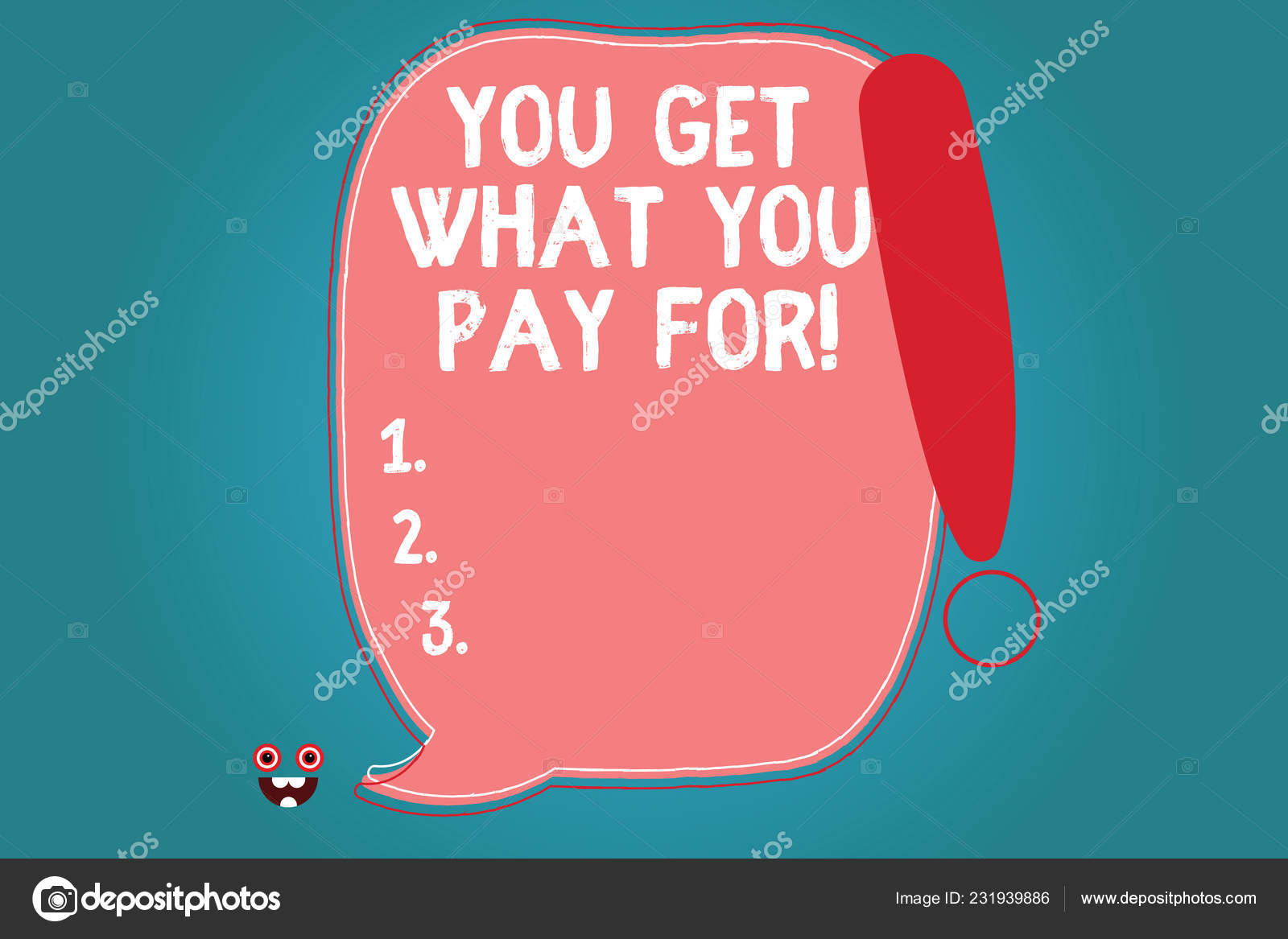 Text sign showing You Get What You Pay For  Conceptual photo