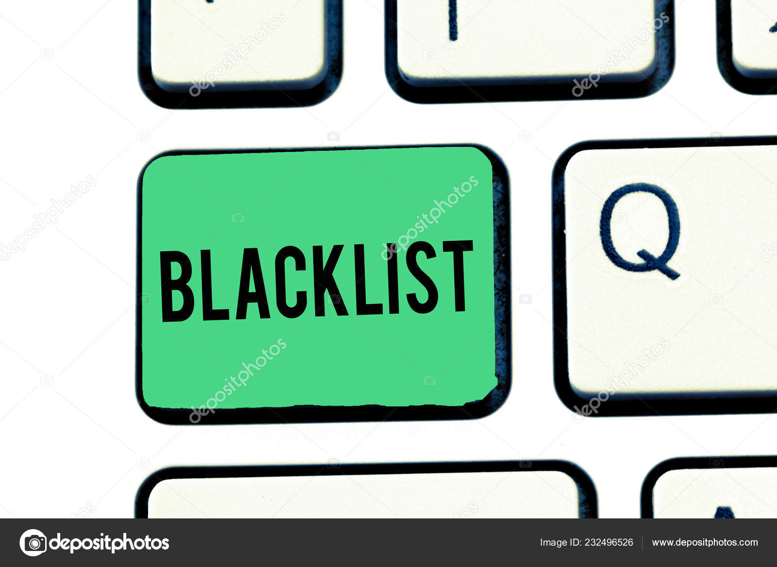 Handwriting text writing Blacklist  Concept meaning list of