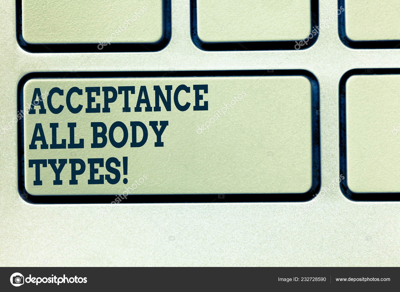 Handwriting text writing Acceptance All Body Types  Concept