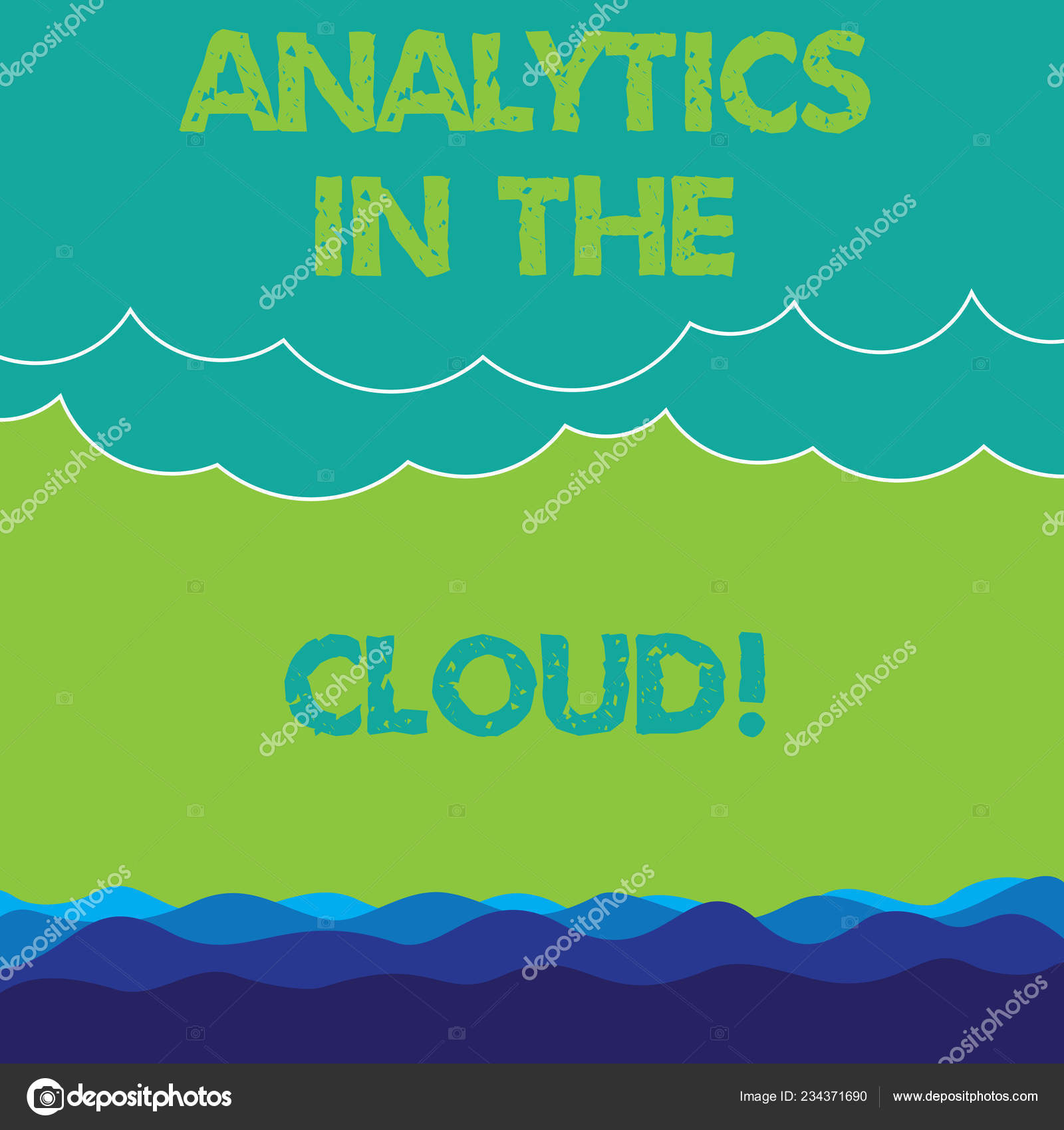 Conceptual Hand Writing Showing Analytics In The Cloud Business Photo Text New Modern Online File Storage