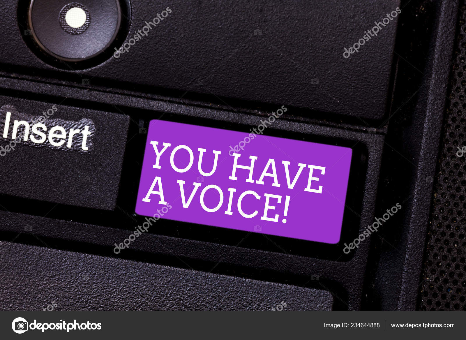 Conceptual hand writing showing You Have A Voice  Business photo